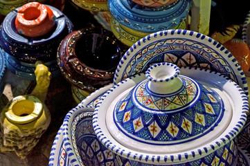 Tunisian ceramic objects