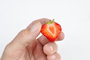 Déguster des fraises
