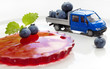 A Miniature world. Prepare a fruits dessert