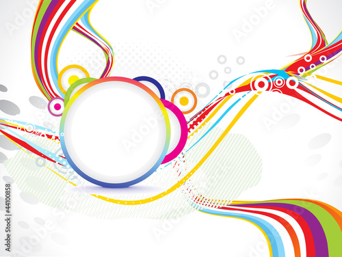 abstract wave background with circle