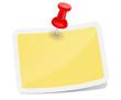 Zettel gelb mit Pin