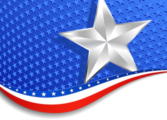 Stars and Stripes Silver Star American Background