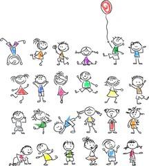 Симпатичные счастливых детей мультфильм