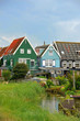 Colorful houses in Marken, the Netherlands