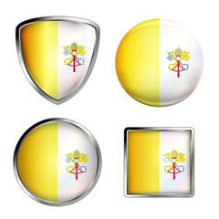 vatikan flag icon set