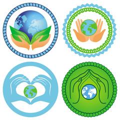 Set of ecology emblems