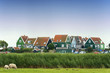Colorful old houses in Marken, the Netherlands
