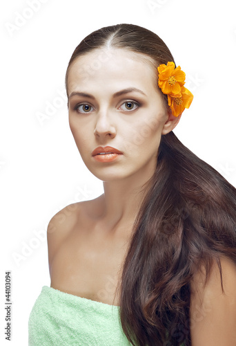 portrait of beautiful spa woman