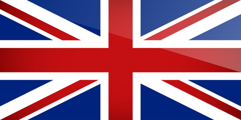 United Kingdom Flag. Vector illustration.