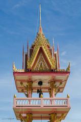 Thai temple in blue sky