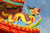 Fototapety Chinese dragon in Kuan Im Shrine