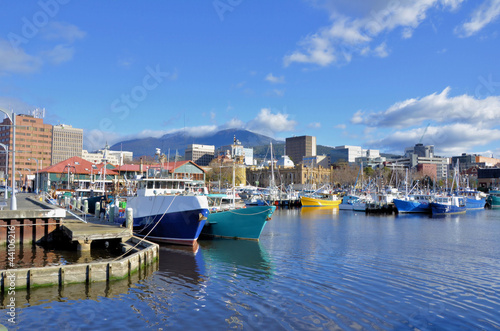 Fishing Boat At Dock in Hobart Harbour - 44106216