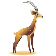 Gazelle Cartoon Gazzella-Vector