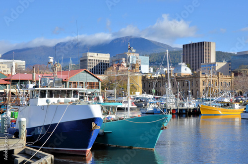 View of Hobart Harbour in a Clear Winter Day - 44106451