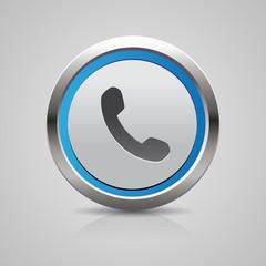 Phone button blue