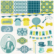 Scrapbook Design Elements -Vintage Gentlemen's Accessories Set