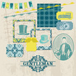 Scrapbook Design Elements - Gentlemen's Accessories Set - vector