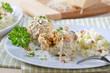 Südtiroler Speckknödel mit Parmesan und Krautsalat