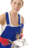 Femme - Rebouchage des fissures poster