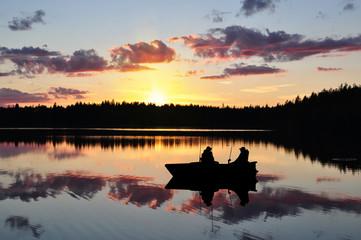 Angler im Boot