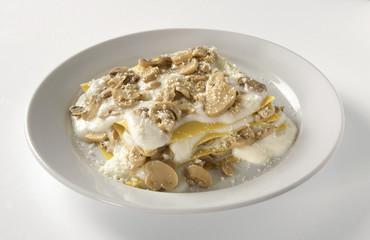 Lasagne bianche ai funghi