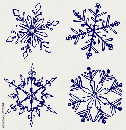 Snowflake winter. Sketch