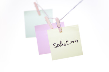 office objects note solution