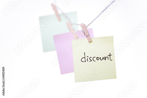 office objects note discount