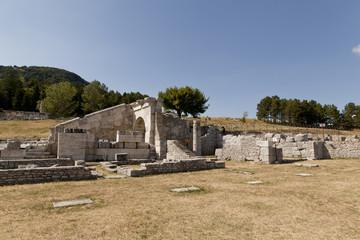 Pietrabbondante, Molise-scavi del santuario sannita
