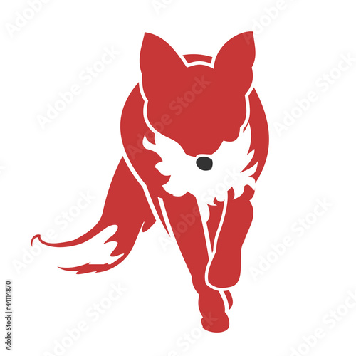 Running Fox Icon 02
