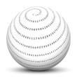 Pi, 3,14159, Spirale, Mathematik, Mathe, Kugel, 3D, Kreiszahl