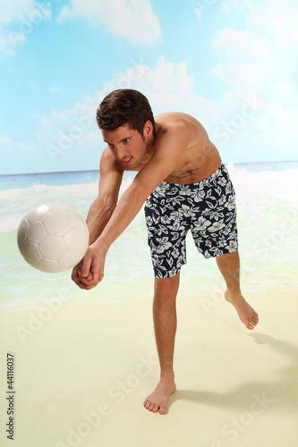 Junge im Urlaub
