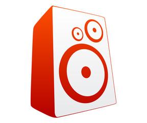Red loud speaker