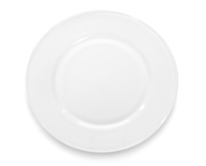 plate on white background.