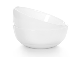 two of white bowls