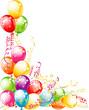 Invitation card for birthdays. Balloons design