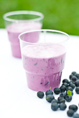 yogurt shake with blueberry