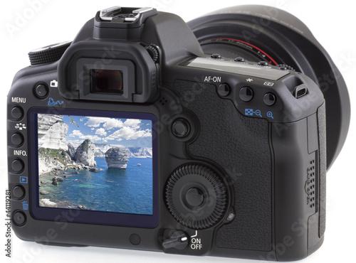 falaises de Bonifacio sur appareil photo numérique