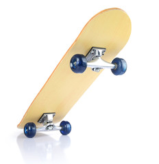 Skateboard deck on white, isolated path included