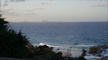 Die letzten Sonnenstrahlen an der Gold Coast