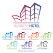 Company (Business) Logo Design, Vector, Hotel, Resort, Building
