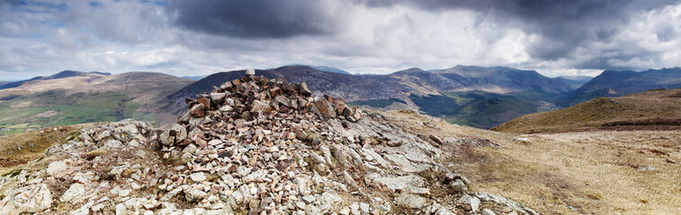 Crag Fell Summit overlooking Ennerdale Water