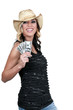 Woman Holding 100 Dollar Bills