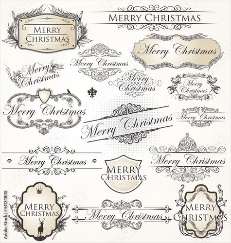 Merry Christmas  vintage Label collection