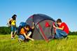Setting a tent