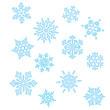 Set Eiskristall Schneeflocke Weihnachten Winter - 44125082