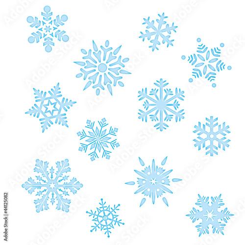 Set lodowego kryształu płatka śniegu Bożenarodzeniowa zima