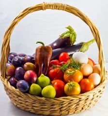 Canestro frutta e verdura biologico