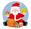 Santa Claus  Bag with gifts