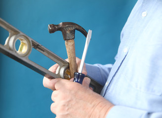 tools in a man's hand